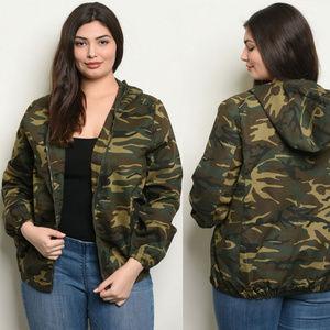Jackets & Blazers - Camo Jacket, Plus size camouflage coat womens camo